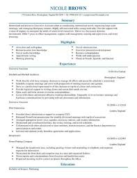 Resume Template Executive Assistant Executive Assistant Cv Template Cv Samples Examples