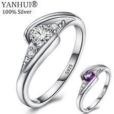 <b>YANHUI</b> New Style <b>Original 925 Solid</b> Silver Fashion Rings for ...