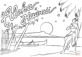 Small Picture Aloha Hawaii coloring page Free Printable Coloring Pages