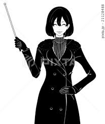 女性 コート 冬 笑顔のイラスト素材 Pixta