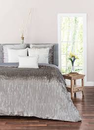 cloud9 design zilar velvet bedding grey