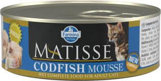 <b>FARMINA консервы</b>-мусс для взрослых кошек, с треской, <b>Matisse</b> ...