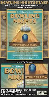 bow street flyers bowling nights party flyer template by hotpin graphicriver