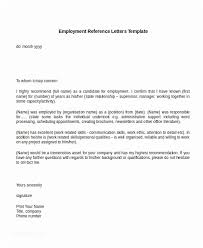 Recommendation Letter For Employment Classy Employment Reference Letter Example Template Reference Letter For
