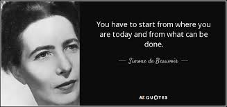 Simone De Beauvoir Quotes Gorgeous Simone De Beauvoir Quote You Have To Start From Where You Are Today