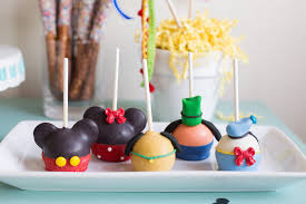 mickey mouse character cake pops from a mickey mouse diy birthday party via kara s party ideas