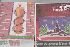 retro latch hook rug wall hanging kits complete sealed kit lot designs