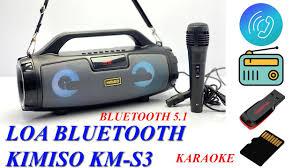 TEST Loa Bluetooth Karaoke xách tay KIMISO KM-S3 kèm micro phiên bản nâng  cấp của Kimiso KM-S1,S2,S6 - YouTube