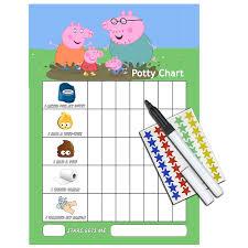 Peppa Pig Potty Toilet Training Reward Chart Pen Free