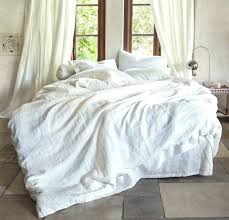 wamsuttar vintage washed linen king duvet cover in winter white flax twin pine cone hill wamsutta vintage