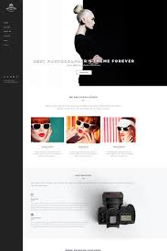 Photography Website Template 65447 Poster Design