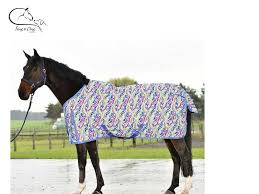 busse turnout rug lightweight lite fleece lined multicolour 4 7 3 free delivery