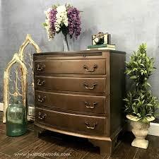 silver painted furniture. Vintage Painted Furniture, Metallic Bronze Dresser Silver Furniture
