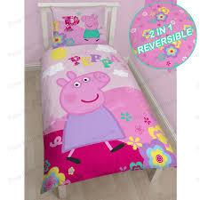 peppa pig duvet cover sets junior single double