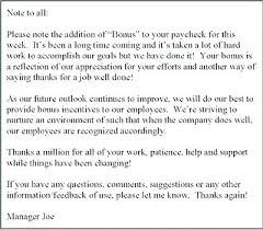 Thank You Note To Employee Letter To Thanks For Support Homeish Co