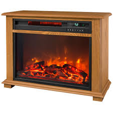 lifesmart 28 5 in portable fireplace heater with decorative mantel lifesmart infrared