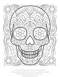 Small Picture Free Sugar Skull Coloring Page Printable Day of the Dead Coloring