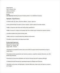 Sales Analyst Resume Marketing Business Analyst Resume Marketing Resume Samples
