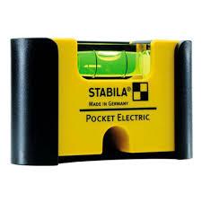 Компактный <b>уровень STABILA Pocket Electric</b> с зажимом (18115)