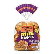 thomas cinnamon raisin mini bagels 10 ct