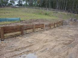 c c a treated hardwood sleepers and link block retaining walls