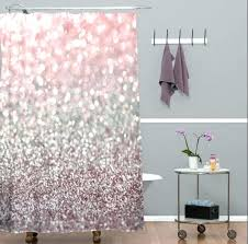 pink and black shower curtains purple