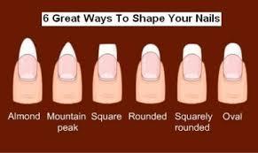 acrylic nail shapes google search