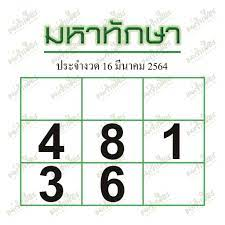 หวยมหาทักษา งวด 16/3/64 - หมาหวย