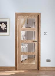 cheshire 4 light shaker clear glazed oak internal door image