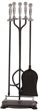 com panacea 15008 fireplace toolset with nickel handles rods black pack of 5 garden outdoor