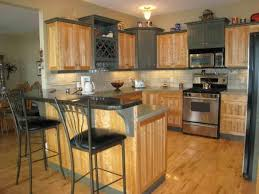 Small Picture Kitchen Designs With Oak Cabinets Grey Walls And Brown Design