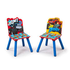 Plastic Table Chair Set Delta Children Nick Jr Kids 3 Piece Blaze And The Monster