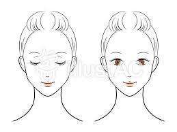 女性の顔イラストイラスト No 1570893無料イラストならイラストac