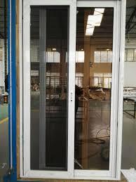 china factory aluminum sliding glass door with stainless steel net mesh china aluminum sliding glass door sliding door