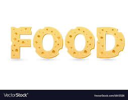 the word food. Perfect Food Food Word Of Cheese Vector Image On The Word D
