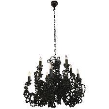 viyet designer furniture lighting brand van egmond coco black crystal chandelier