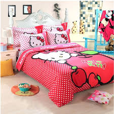 lovely 4pcs cartoon single full queen size bed quilt duvet cover set for kids child girl