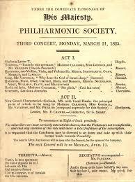 「1813 Royal Phylharmonic association」の画像検索結果