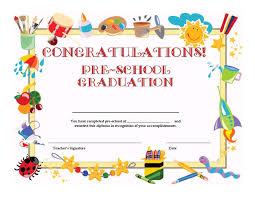 Graduation Certificate Template For Kids Aesthetecurator Com