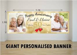 personalised giant large 50th golden wedding anniversary photo Wedding Anniversary Banners Design personalised giant large 50th golden wedding anniversary photo poster banner n29 50th wedding anniversary banner designs