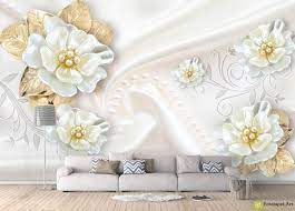 White flowers with golden petals on a ...