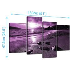 extra large part set purple landscape canvas pictures website with photo gallery purple canvas wall