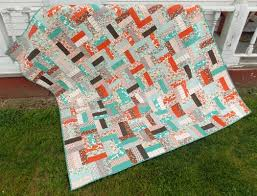 Just sew jelly roll strips (or 2 1/2″ strips) together then cut ... & Just sew jelly roll strips (or 2 1/2″ strips) together then. Jelly Roll Quilt  PatternsQuilt ... Adamdwight.com