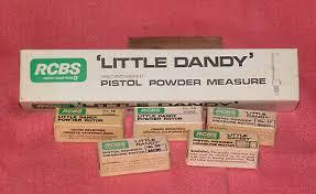 Little Dandy Rotor Size Chart Powder Measures Scales Pistol Powder Measure
