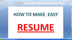 How To Make A Good Resume On Word Resume Template How To Write A Good L Cv With Microsoft Word 7