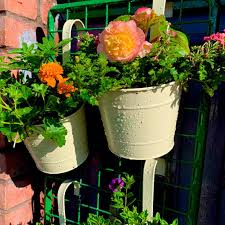 garden fence or wall planters