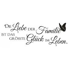 X374 Wandtattoo Spruch Die Liebe Der Familie Glück Leben Sticker