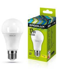 Светодиодная <b>лампочка</b> LED <b>17W</b> 3000К <b>E27 Ergolux</b> 10267267 в ...
