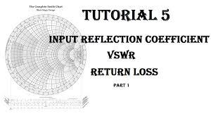 Find Reflection Coefficient Vswr Return Loss Tutorial 5 Part1