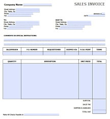 Invoice Templates For Excel Free Sales Invoice Template Excel PDF Word Doc 3